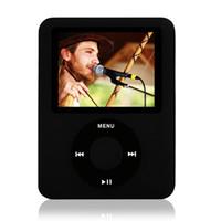 Acheter Films de musique vidéo-Vente en gros de haute qualité 6 couleurs de 1,8 pouces LCD métal 8 Go MP4 3 joueurs FM Radio Jeux vidéo Lecteur de musique + câble de charge + écouteurs
