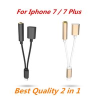 Wholesale 2 in Colorful mm Headphone Jack in Colorful mm Headphone Jack Adapter For iPhone plus s plus Earphone Charger Cable High