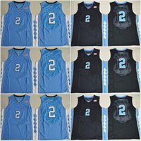 Wholesale North Carolina Tar Heels Joel Berry II Blue Black Jersey New Style High Guality Stitched Jerseys Embroidery logos