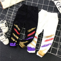 Wholesale Fashion cool Spring Autumn Boys Color Printed Casual Pants Long Trousers Childrens Pants cotton Novelty Clothes Kids Clothing boy wear A129