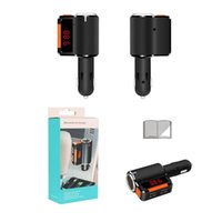 Wholesale Hot New BC09 Bluetooth Car Kit FM Transmitter Handsfree Dual USB Car Charger Adapter MP3 Player Display