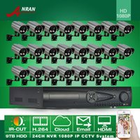 Wholesale ANRAN NVR Kits Onvif H MP Waterproof Outdoor Array IR Network CCTV P IP Camera With TB HDD HDMI CH NVR Security CCTV System
