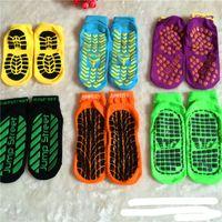 Wholesale Fashion sport trampoline socks The silicone antiskid outdoor socks premium yoga sock colorful floor socks Factory price