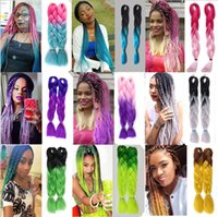 Wholesale 2 tone ombre braiding hair jumbo braids Fashion synthetic hair extension synthetic braiding hair colors