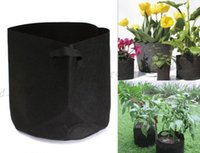 Wholesale 2017 NEW Round Non woven Fabric Pots Plant Pouch Root Container Grow Bag Aeration Flower Pots Container Garden Planters LLY