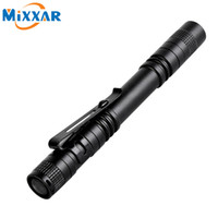 Wholesale LED Flashlight Outdoor Pocket Portable Torch Lamp Mode LM Pen Light Waterproof Penlight with Pen Clip