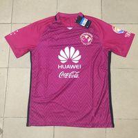 Precio de Camisetas de fútbol de color rosa-Top Merixo Liga MX Club América Camisetas de fútbol Retro 16/17 Maillot De Foot 100 Años Centenario Rosa Negro Amarillo Rojo Camisetas de fútbol