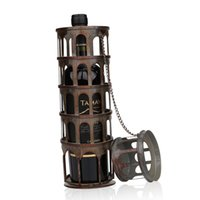 beautiful drawing rooms - TOOARTS The metal tower wine rack Wine rack with practical and beautiful appearance Practical ornament Handicraft Home Garden A026