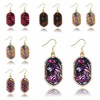 Wholesale 2017 Color Kendra Scott Elle Statement Drusy Drop Earrings Dangle Chandelier Ear jewelry