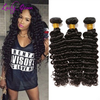 Wholesale Brazilian deep Virgin Hair Bundles Brazilian Virgin Hair Deep Wave good Brazilian Deep wave Human Hair