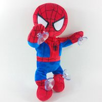Wholesale Christmas Gifts Electronic Plush Toys Cartoon Spiderman Batman Dolls with Chuck Climbing Wall Dancing Singing Toys Kids Children Gifts