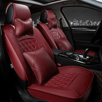 Wholesale High quality special Leather Car Seat Covers have pillows For BMW Mercedes Volkswagen All Models Car Seat Covers Universal cushion