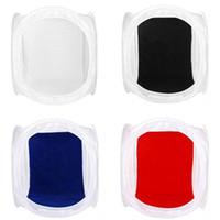60 x 60cm Photo Studio softbox Shooting Tent Softbox Box tente photo légère + sac portable + 4 Toiles de contact couleur couleur lentilles de contact