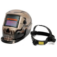 Wholesale Skull Gold Solar Electrowelding Auto Darkening Welding TIG MIG Weld Helmet Mask UV IR Protection MAC_10T