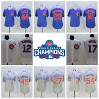 Wholesale Cheap Cubs Baseball Jerseys Bryant Baseball Jerseys with champion patch Stitched Cub Rizzo Arrieta BAEZ Jerseys