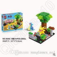 Wholesale 4 Designs Poke Mon Go Action Figure Minifigure Building Blocks DIY Pikachu Squirtle Model Toys Diamond Brick Toys QS08 CCA5204