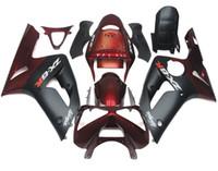 Wholesale New TOP Injection ABS fairing kits For kawasaki ninja ZX R ZX R ZX6R bodywork set ZX636 ZX cool red black matte