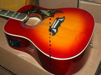Wholesale New Factory Custom Cherry Burst Acoustic Electric Guitar Best guitars HOT