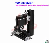 6.5 big lathe machine - Powerful Mini Metal Gear Milling Machine TZ10002MZP Big power vertical mill machine mini all metal DIY milling lathe
