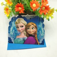Wholesale Cards Envelopes anna Elsa Theme Happy Birthday party supply paper decorative invitation cards