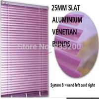 aluminium venetian blinds - Purple Slat Horizontal Venetian Aluminium Blinds For Window Curtains Office cmX100cm Wands Cords Controls