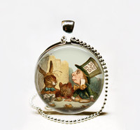 alice party - Mad Hatter s Tea Party pendant Necklace Mad Hatter pendant Alice in Wonderland pendant Mad Hatter necklace