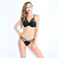 adult swim shows - New Split triangle swim suit female show thin hot spring swimsuit