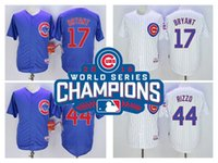 Wholesale Cubs Kris Bryant Champion Jersey Javier Baez Sosa Russell Anthony Rizzo Arrieta Jerseys White Grey Blue Available
