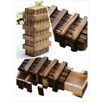 Wholesale Puzzle Box Magic Compartment Wooden Puzzle Box With Secret Drawer Brain Teaser Children Creative Gifts