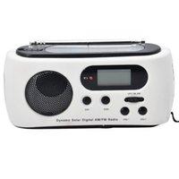 Wholesale Newest Mini Portable Radio Solar Dynamo Power AM FM Scan Digital Radio With LEDs Flashlight Phone Charge