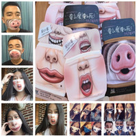 Wholesale Funny Big cotton Mouth Mask Pig Pattern Warm Face Masks Unisex Crative Cotton Thicken Hanging Ears Mouth Muffle Face Masks A0527