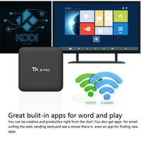 Wholesale Amlogic S905X Android6 Smart Tv Box TX5 Pro GB GB Quad Core G G WiFi K BT Android box