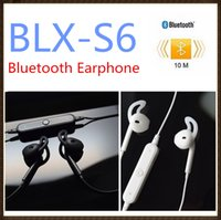 Wholesale Fashion S6 Wireless Bluetooth Headphone Stereo Cellphone In ear Headset with Microphone Outdoor Sport Running for Smart Phone