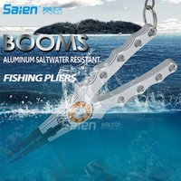 Tools, Pliers & Gaffs aluminum hook lanyards - Booms Fishing X2 Aluminum Fishing Pliers Resistant Saltwater for Cutting Braid Line and Remove Hooks and Lure with Coil Lanyard