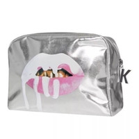 Wholesale DHL Silver Kylie Cosmetics Bags Makeup The Limited Edition Holiday Collection Kylie Jenner Lip Kit Make Up Bags
