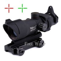China acog mounts - Tactical New Hunting ACOG X32 Telescopic Sight Red Green Dot Laser Sight mm Mounts