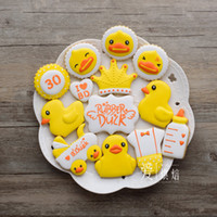 baking duck - 10pcs Yellow Duck Series patisserie reposteria Stainless Steel Cookie Cutter Metal Fondant Cake Decorating Tools Cupcake Pastry Bake Kitchen