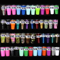 Wholesale 31 Colors In Stock YETI Rambler Tumblers oz Large Capacity Stainless Steel Cup Liquid Cup Vacuum Cups