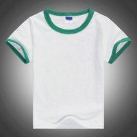 Wholesale 2016 New Summer Cotton T shirt Cute Children s Sports Leisure Type Solid Color Blank Short Sleeve