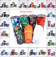 Wholesale 26 colors YETI oz Stainless Steel Tumbler Cups Rambler Cooler Vacuum Insulated Vehicle Coffee Beer Mug Cups DHL