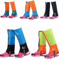 Wholesale 6 Colors Waterproof Protective Leg Cover Breathable Gaiters Leg Covers Warmers For Outdoor Hiking Walking Climbing Hunting PPA763