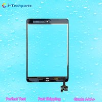 apple ipad small - For iPad Mini MINI Digitizer Touch Screen Assembly With Small Parts and Adhesive Black White