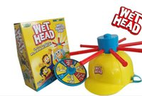 Wholesale Tricky capWet Head Game children adult Amusement Toys Wet Head Challenge Jokes Funny Toys roulette game New Table Game