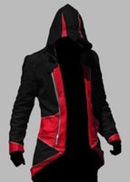 Wholesale Plus Size Assassins Creed III Desmond Miles Conner Kenway Jacket Hoodie Coat Cloak Cosplay Costume Overcoat US Sizes XS XL