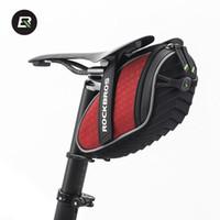 Wholesale 2017 ROCKBROS MTB Bicycle Seat Saddle Bags Folding Bike Fixed Gear Mountain Road Cycle Rear Back Bag Basket bike Accessories C16
