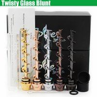 Wholesale Newest Twisty Glass Blunt Second edition Dry herb Pipe grinder Filter System More Accessories herbal Pipes Twist me cigarette vapor pen DHL