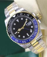 El nuevo Reloj de alta calidad de lujo Asia 2813 Movimiento mecánico 40MM negro bisel de cerámica azul GMT 116710 Automatic Mens