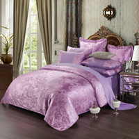 Wholesale Spring new luxury bed linen European satin jacquard bedding set include duvet cover bed sheet pillowcases
