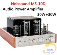 Wholesale Nobsound MS D Tube Amplifier Hifi Stereo Audio Power Amplifier W Vaccum Tube AMP and Headphone support V