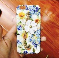 Ракушка масло Цены-50шт / Живопись маслом Искусство РЕТРО цветок запястье цепи телефон дела для iphone6 4.7 / 5.5 iPhone7 iphone7 Plus Shell Жесткий чехол ПК задней стороны обложки